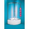 OLSEN Spa Toledo íves zuhanykabin+tálca 90x90, króm keret, matt üveg
