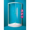 OLSEN Spa Madrid íves zuhanykabin+tálca 90x90, króm keret, sima üveg