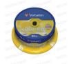 Verbatim DVD+RW 4x Cake (25) /43489/ írható és újraírható média