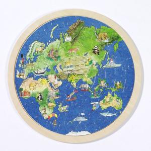 Fa puzzle - Földgömb