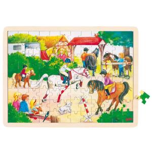 Fa puzzle - Lovasbemutató