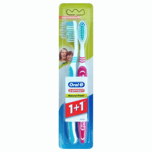 Oral-B 3 Effect fogkefe Natural Fresh 1+1 db medium