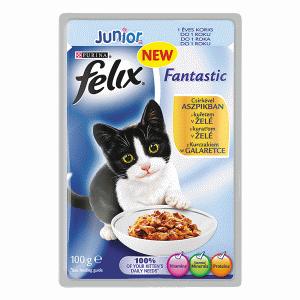FELIX alutasakos macskafalatok 100 g junior