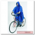 Kerékpáros esőkabát, kék