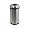 Vepa Bins Nyitott tetejű szemetes, rozsdamentes acél, ezüst, 60l