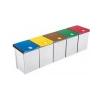 HELIT Fedeles műanyag szelektív hulladékgyűjtő, zöld, 20l
