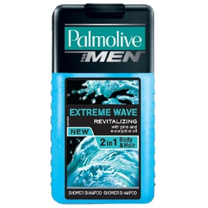 PALMOLIVE For Men Extreme Wave Tusfürdő Sampon 250 ml férfi
