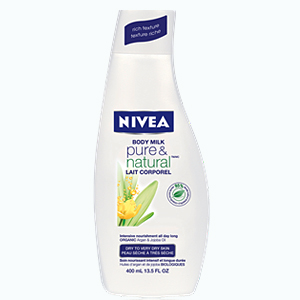 Nivea Pure Natural Testápoló tej 400 ml női