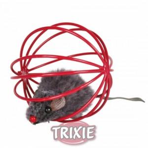 Trixie Játék szőrlabda keretben 6cm