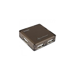 Sharkoon Square - USB Hub (Fekete; 4port; USB2.0)