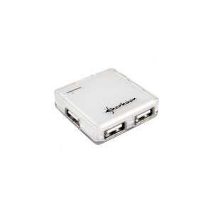 Sharkoon Square - USB Hub (Fehér; 4port; USB2.0)