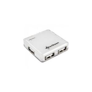Sharkoon Square - USB Hub (Fehér; 4port; USB2.0)