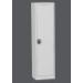 . . Egyajtós fém szekrény szürke, 4 polcos, 1950 x 505 x 400 mm