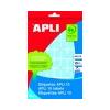 APLI Körcímke, 10 mm átmérő, sárga, kézzel írható, 1008 etikett/csomag