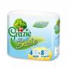 Grazie Grazie öko papír, Basic toalett papír, WC papír, 4 tekercs, oxigénnel fehérített, 2 rétegű, 40 m/tekercs (LU-811645)