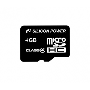 Silicon Power Micro SDHC 4GB Class 4