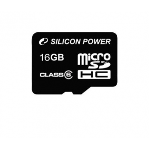 Silicon Power Micro SDHC 16GB CLASS 6