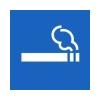 APLI Dohányzási lehetőség, öntapadó címke, 114 x 114 mm