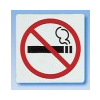 APLI Tilos a dohányzás, öntapadó címke, 114 x 114 mm