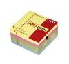 APLI Öntapadós jegyzettömb kocka, 400 lapos, pasztell színekben, 75 x 75 mm post-it