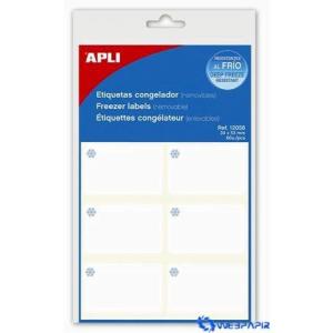 APLI Fagyasztható kerekített sarkú etikett 34x53 mm 60 etikett/csomag 10 lap/csom