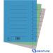 DONAU Karton elválasztó lapok A4 szürke 100db/csom