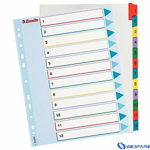 ESSELTE újraírható regiszter A4 1-12 részes