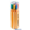 STABILO Point 88 Twin Pack tűfilc 0 4 mm 20 szín műanyag dobozban 20db/csom