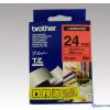Brother 24 mm-es szalag piros alap/fekete betű