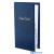 VICTORIA Névjegykártyatartó 64 zsebes gyűrűs márvány kék