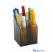 ICO szögletes írószertartó füstszínű