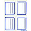APLI Füzetcímke vonalas kék színű 38x50mm 20 címke/csomag db(20)