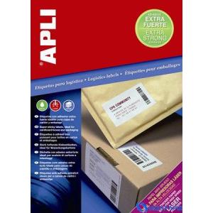 APLI 1 pályás Super Sticky etikett 210 x 148 mm 200 etikett/csomag lap(100)