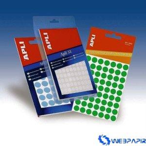 APLI Körcímke 16 mm átmérő zöld kézzel írható 432 etikett/csomag