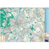 Stiefel Budapest térképe utcajegyzékkel, tűzhető, keretezett fali térkép, 140x100 cm