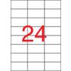 APLI 3 pályás etikett, 70 x 37 mm, 6000 etikett/csomag