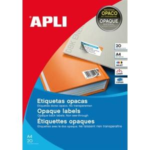 APLI 7 pályás fedő etikett, 25,4 x 10 mm, 3780 etikett/csomag