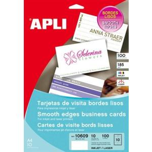 APLI Előrevágott névjegykártya 89x51mm 185 gr, matt