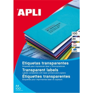 APLI 4 pályás áttetsző etikett, 48,5 x 25,4 mm, matt, 880 etikett/csomag