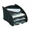 FELLOWES Earth Series™ négyrészes irattálca, fekete