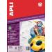 APLI CD/DVD-címke, magasfényű, külső átmérő 114 mm, belső átmérő 41 mm