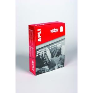 APLI 15 x 24 mm árazócímke zsinórral, fehér