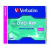 Verbatim DVD-RW 4,7 GB, 6x, újraírható, normál tokban (SERL)