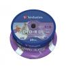 Verbatim DVD+R 8,5 GB, 8x, kétrétegű lemez Double Layer, hengeren, nyomtatható felület, szélesen, no-ID