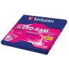 Verbatim DVD-RAM egyoldalas, kivehető, 3x, Type II, 4,7 GB