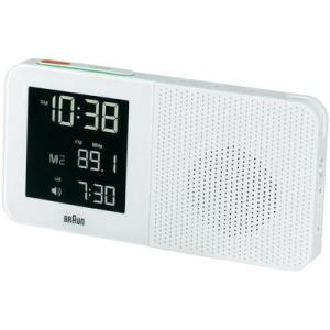 Braun Rádiójel vezérlésű rádiós ébresztőóra, (Sz x Ma x Mé) 180 x 90 x 45 mm, fehér, Braun