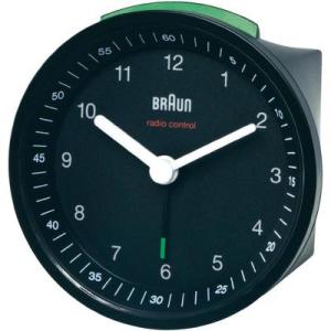 Braun rádiójel vezérlésű ébresztőóra, 80 x 80 x 56 mm, fekete