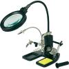 LED-es nagyítós lámpa harmadik kézzel TOOLCRAFT, 2X6 4X (3,5/11,8 dioptria) Lencse Ø: 95/25 mm