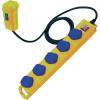 Brennenstuhl Érintés védelmi személyvédős FI elosztó 5 részes  sárga-kék 5m BRENNENSTUHL