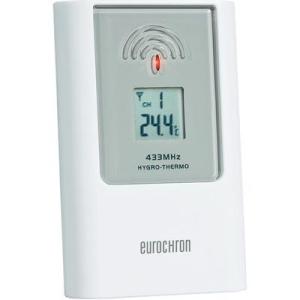Conrad Hozzávaló érzékelő, EAS 302Z Eurochron C8340H 433 MHz, a 67 24 22 rendelési számú EFWS 302 rádiójel vezérlésű időjárásjelző állomáshoz, 80 m, -5 ... +